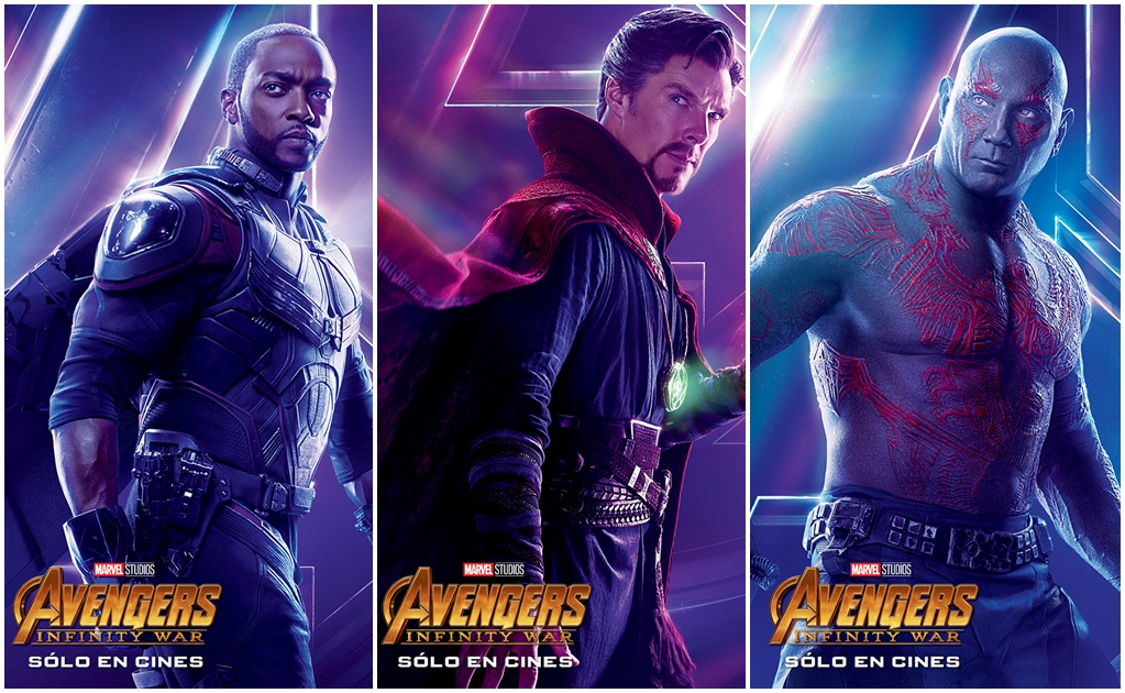 """""""Avengers: Infinity War"""" lanza pósters individuales"""