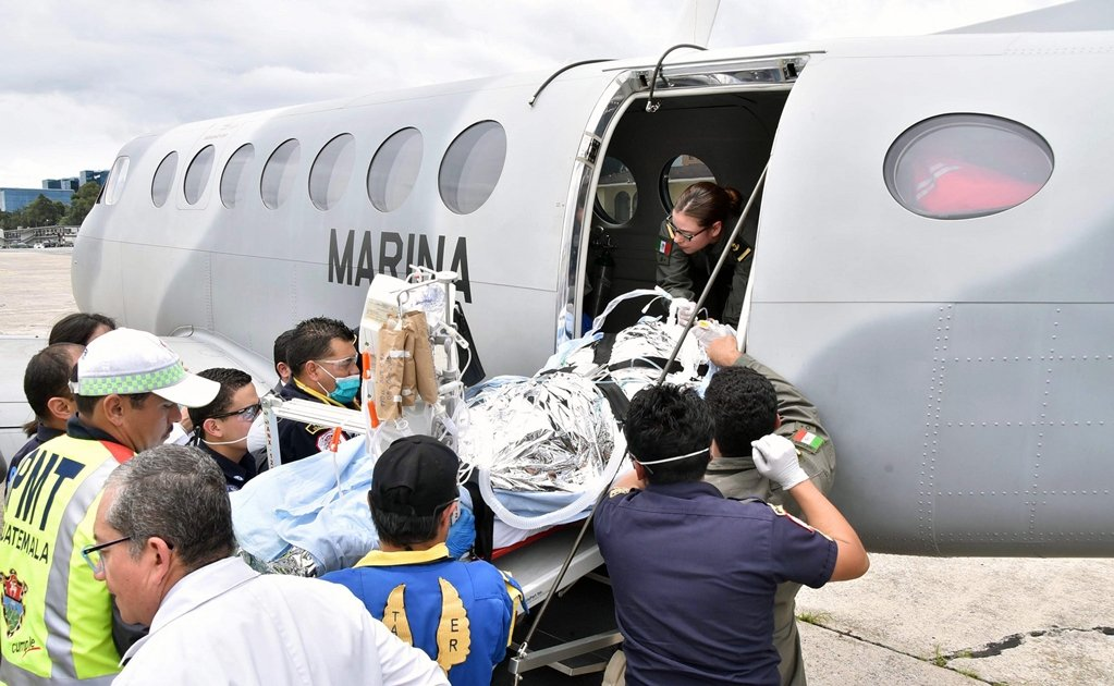 Mexico provides assistance to Fuego volcano burn victims