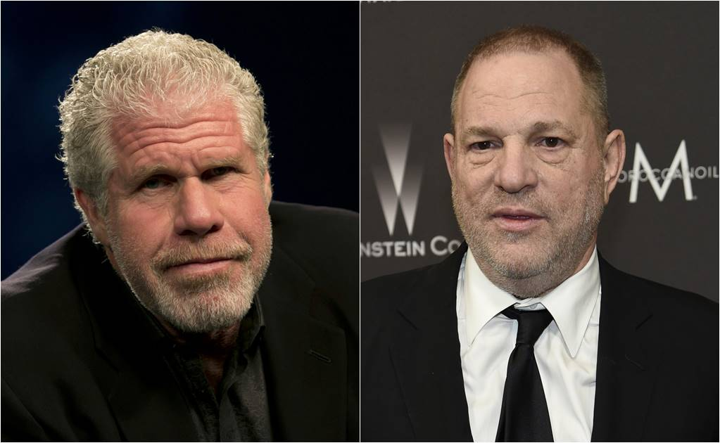 El actor Ron Perlman y el productor Harvey Weinstein
