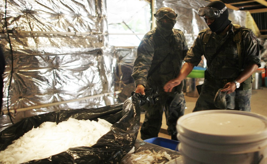 Underground meth lab found in Sonora