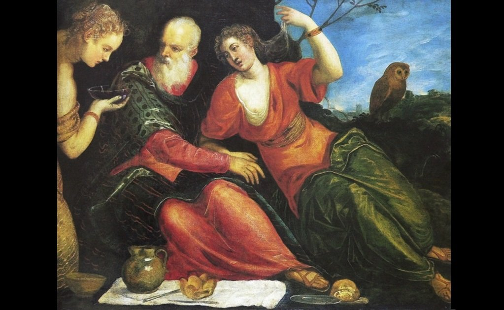 """""""Lot and and his Daughters"""" de Jacopo Robusti"""