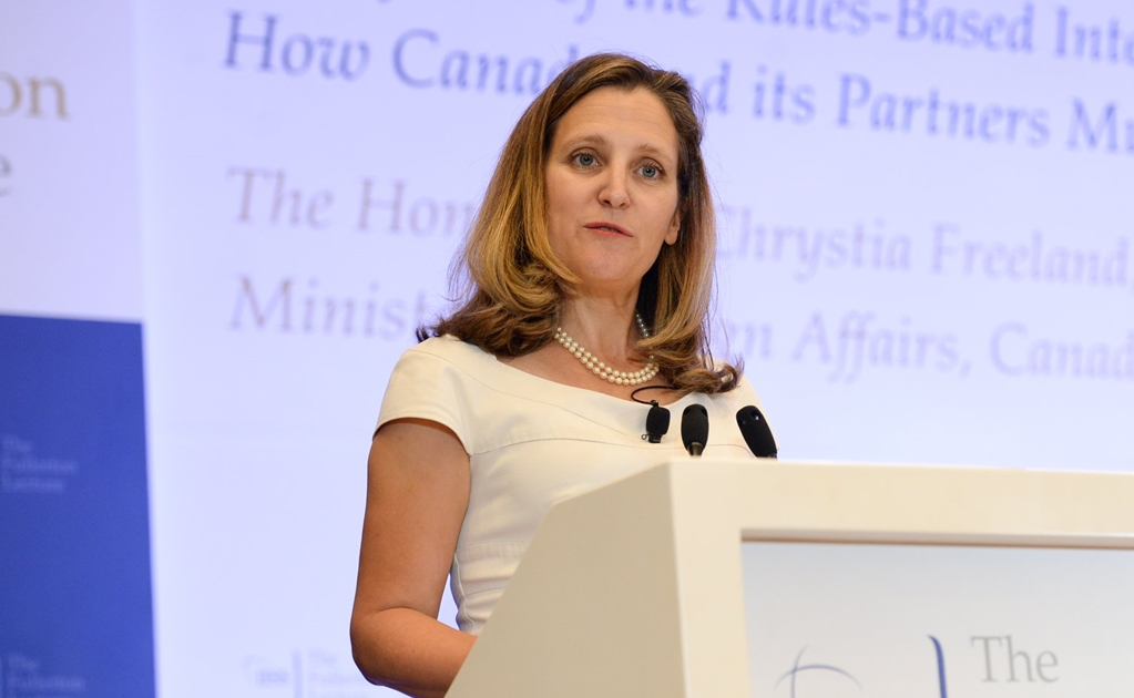 Canciller canadiense, Chrystia Freeland