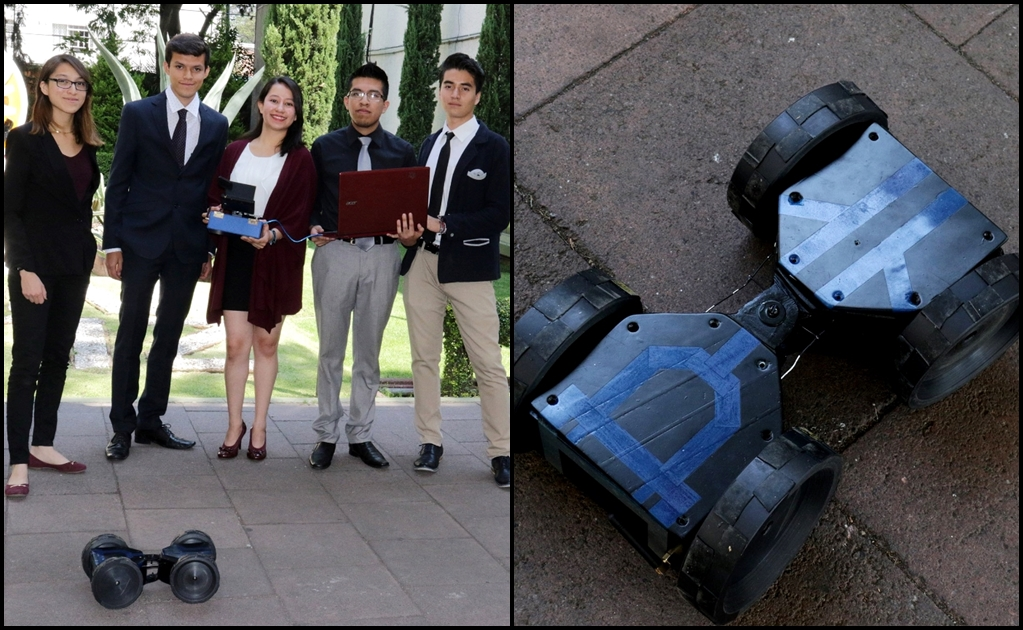 IPN students create hi-tech robot for rescue missions