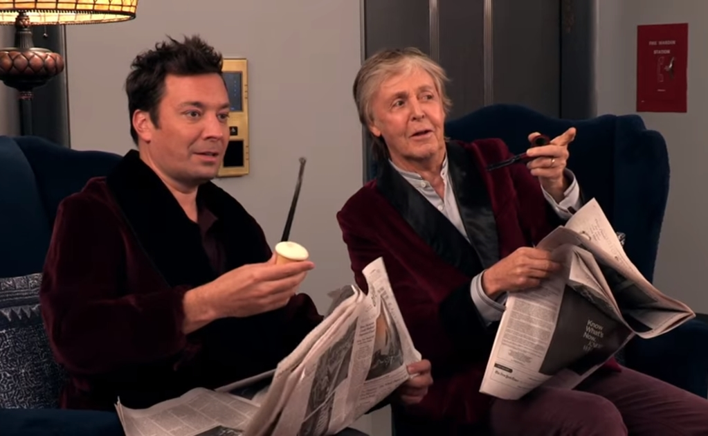 Paul McCartney y Jimmy Fallon sorprenden a fans