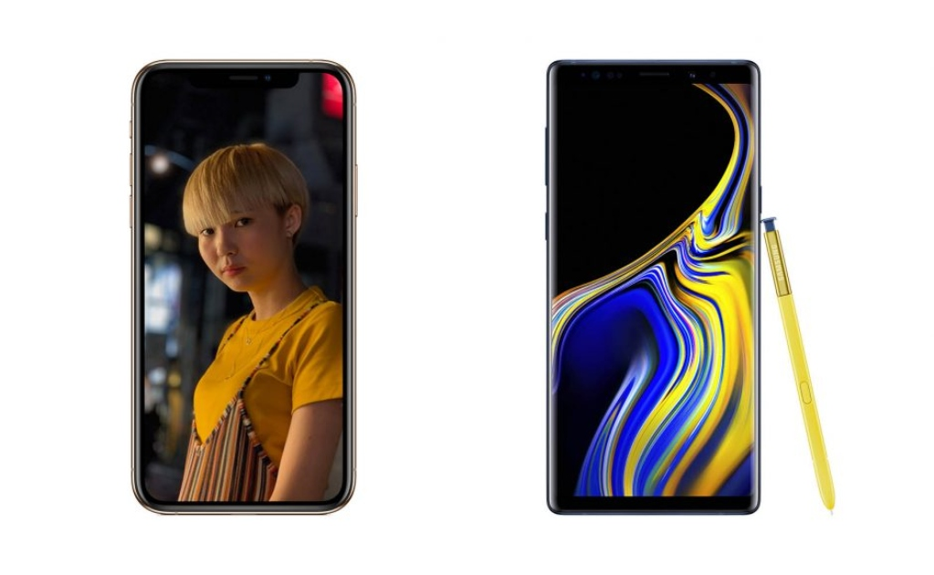 iPhone Xs Max Galaxy Note 9