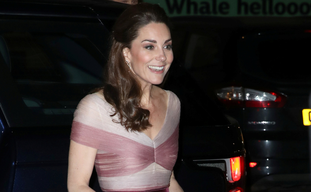Kate Middleton llegando al evento