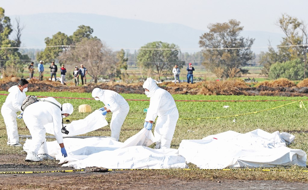 Bodies calcined in Tlahuelilpan to be identified by foreign experts