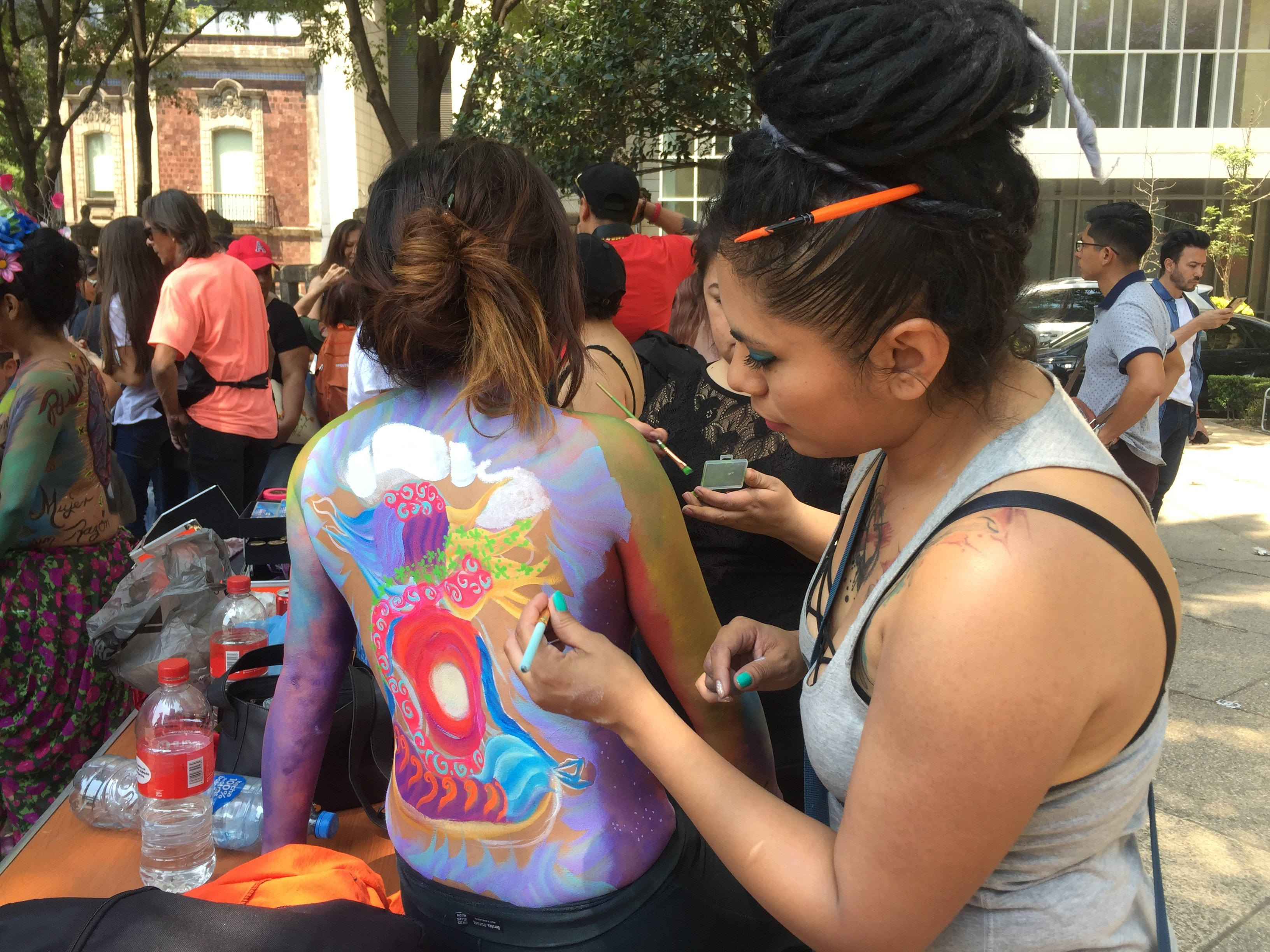 The artist said she wanted to portary peace and hope - Photo: Fretel Morales/EL UNIVERSAL in English