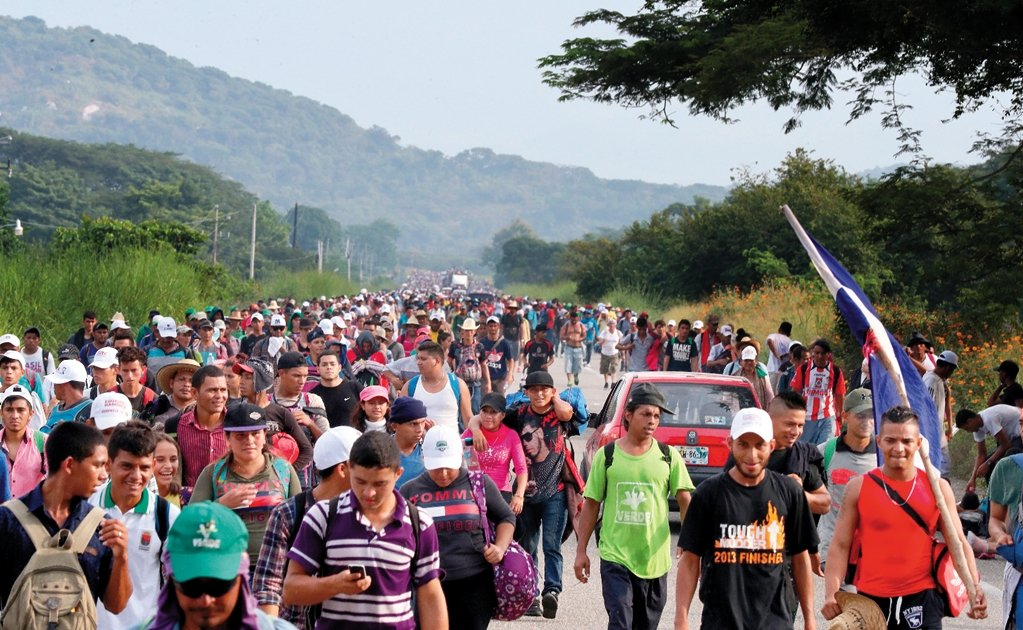 More than 5 thousand migrants in Chiapas make their way to the U.S.