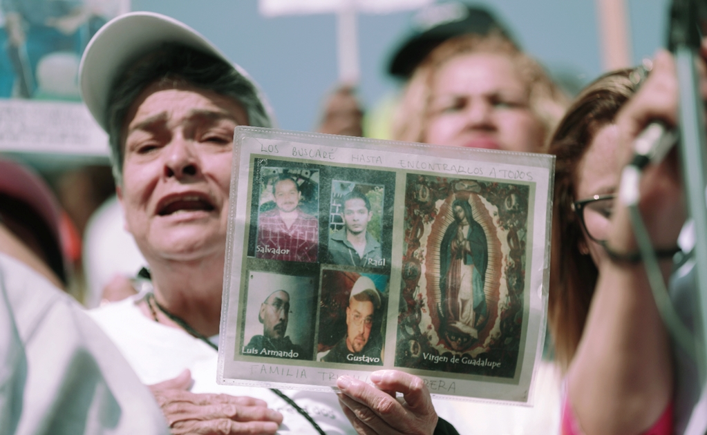 Mothers of missing sons and daughters march in Mexico City