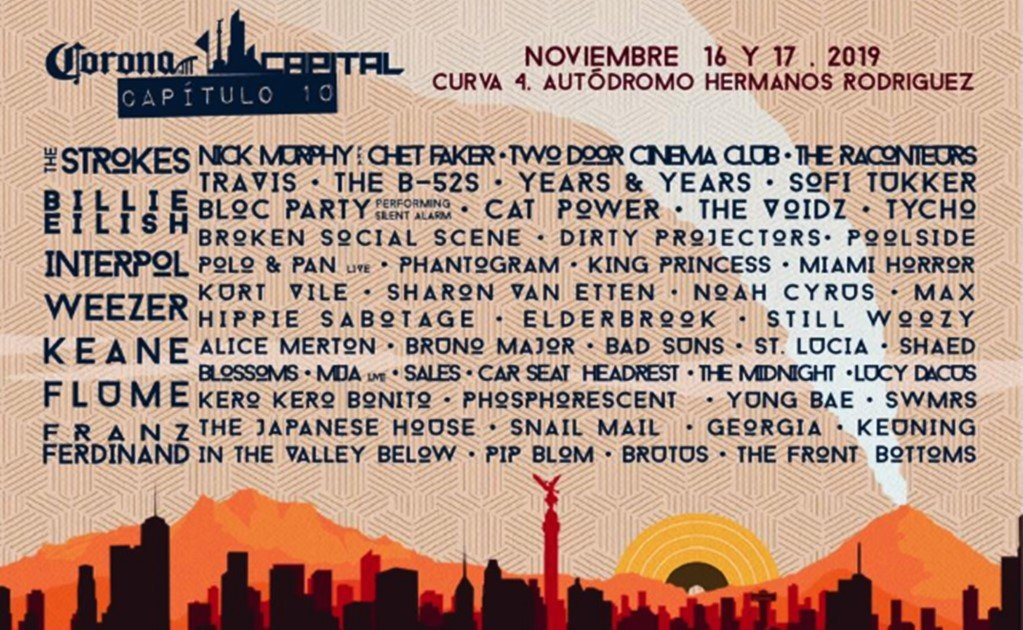 The Strokes, Billie Eilish, Interpol, and Chet Faker in Mexico