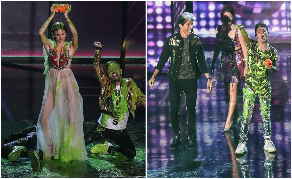 Juliantina y Aristemo triunfan en los Kids' Choice Awards México 2019