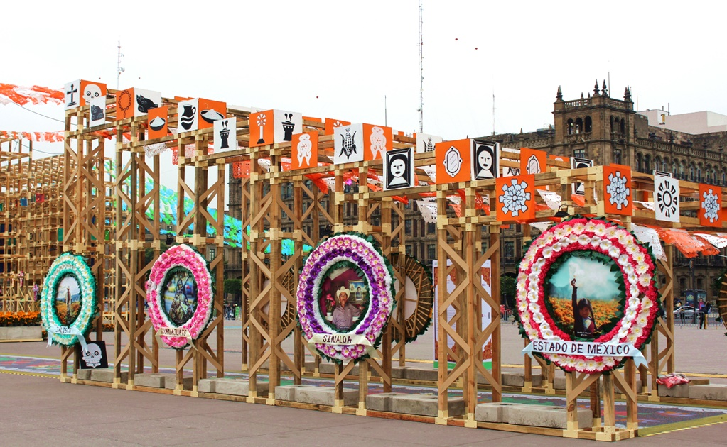 Day of the Dead altar in Mexico City