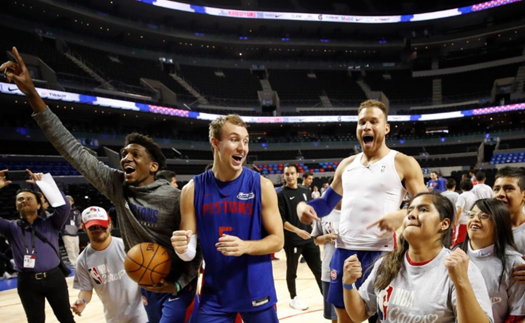 Detroit Pistons share NBA Cares clinic with Special Olympians in Mexico City