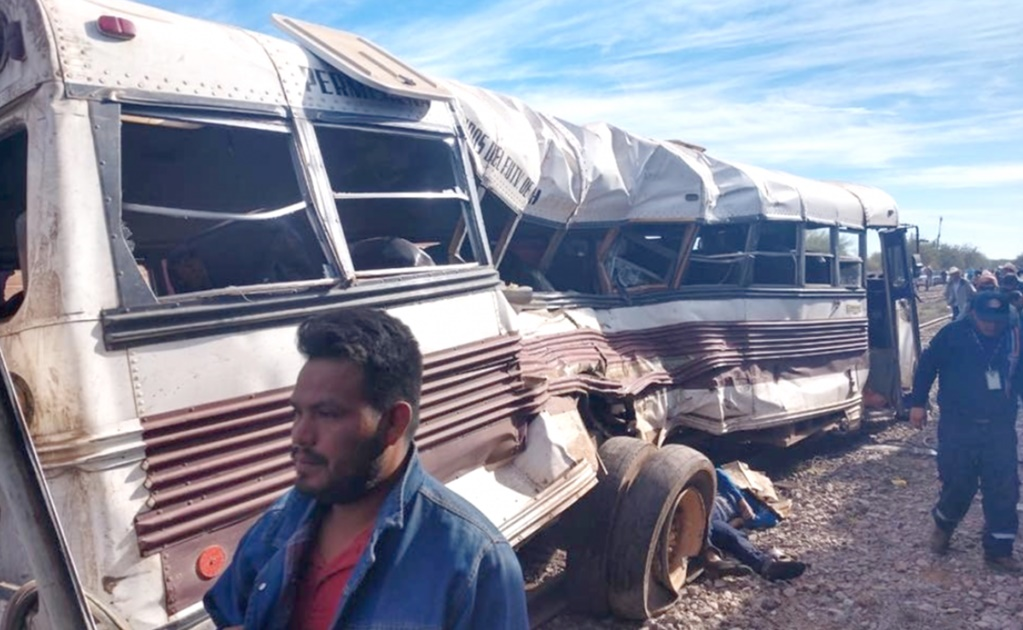 Mexico train crash: 7 dead and 36 injured in Sonora