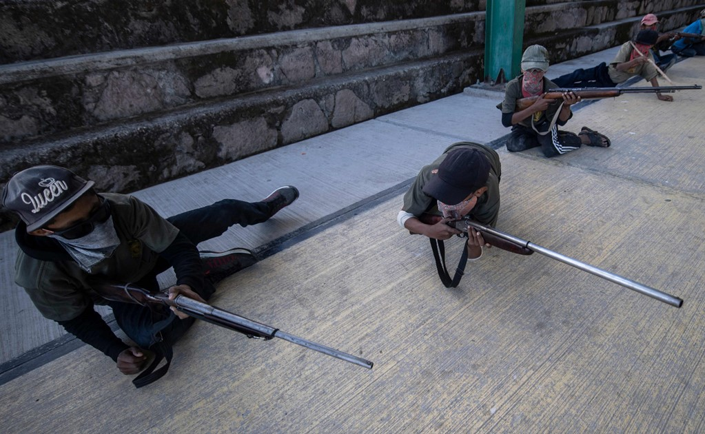 Vigilante group trains and arms children to protect themselves against criminal groups in Guerrero, Mexico