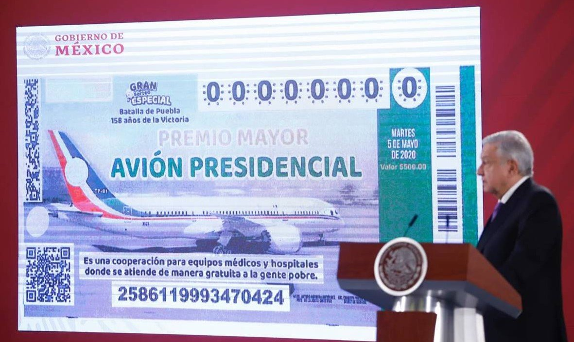Is the raffle to get rid of Mexico's presidential plane ready?