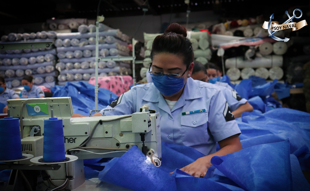 The Mexican navy is producing personal protective equipment amid the COVID-19 pandemic