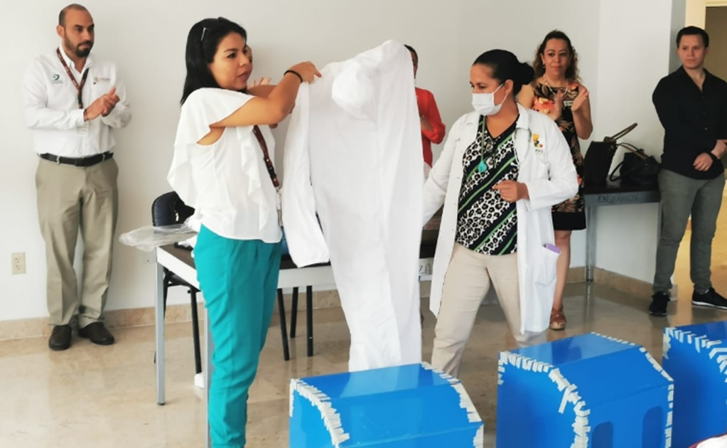 COVID-19: The Mexican women making masks for healthcare workers in Chiapas