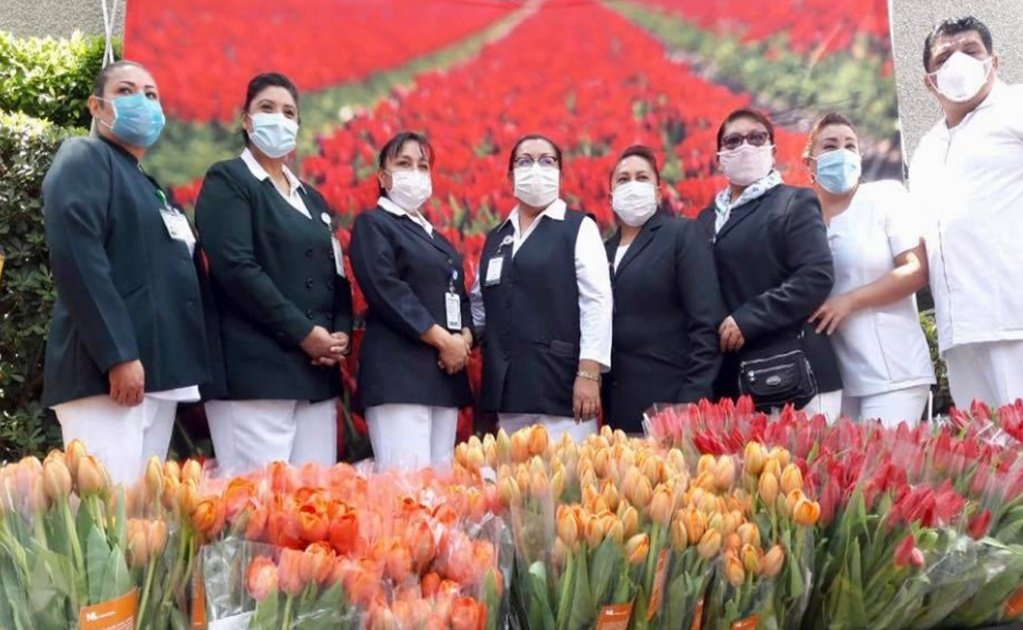 The Netherlands gifts tulips to Mexican healthcare workers fighting COVID-19