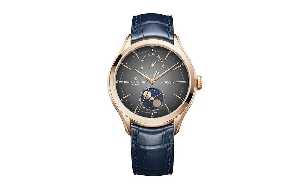 BAUME & MERCIER BAUMATIC DAY-DATE MOON-PHASE
