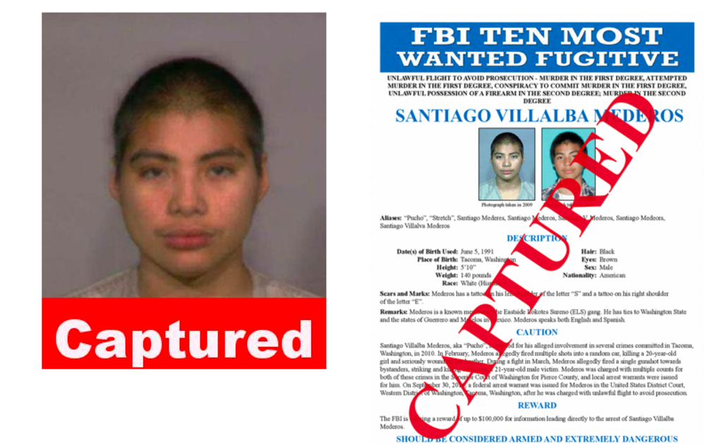 "Santiago ""Pucho"" Villalba, one of the FBI's most wanted fugitives, was arrested in Mexico"