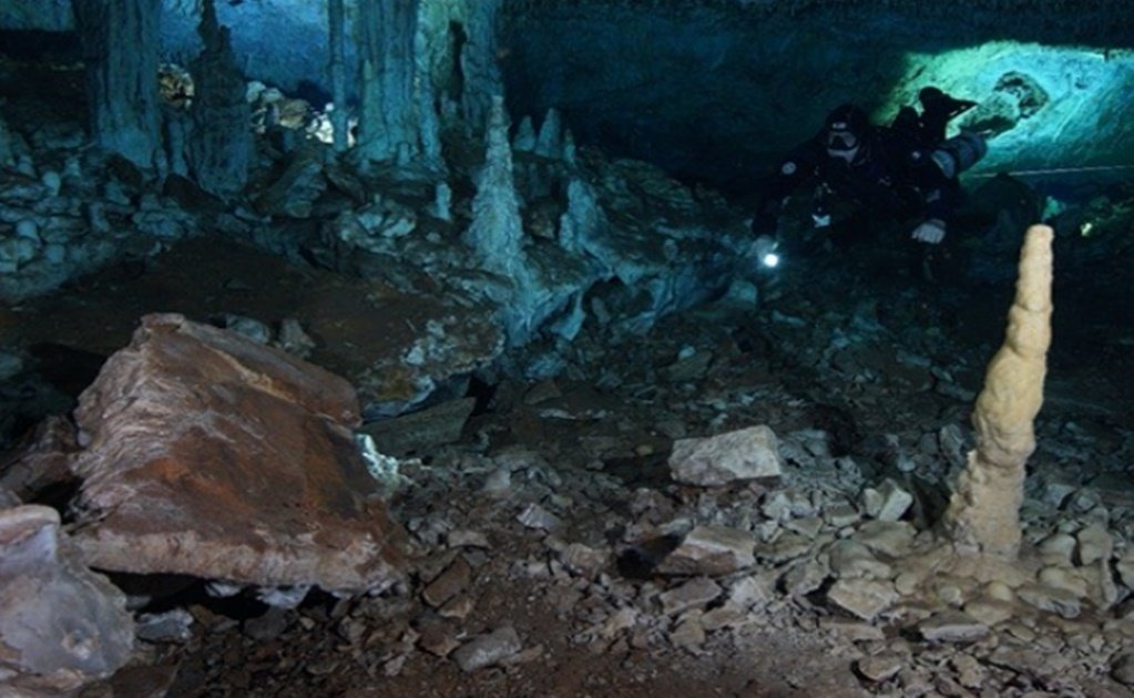Prehistoric ocher mine found in Mexican underwater cave preserves the mining secrets of early settlers