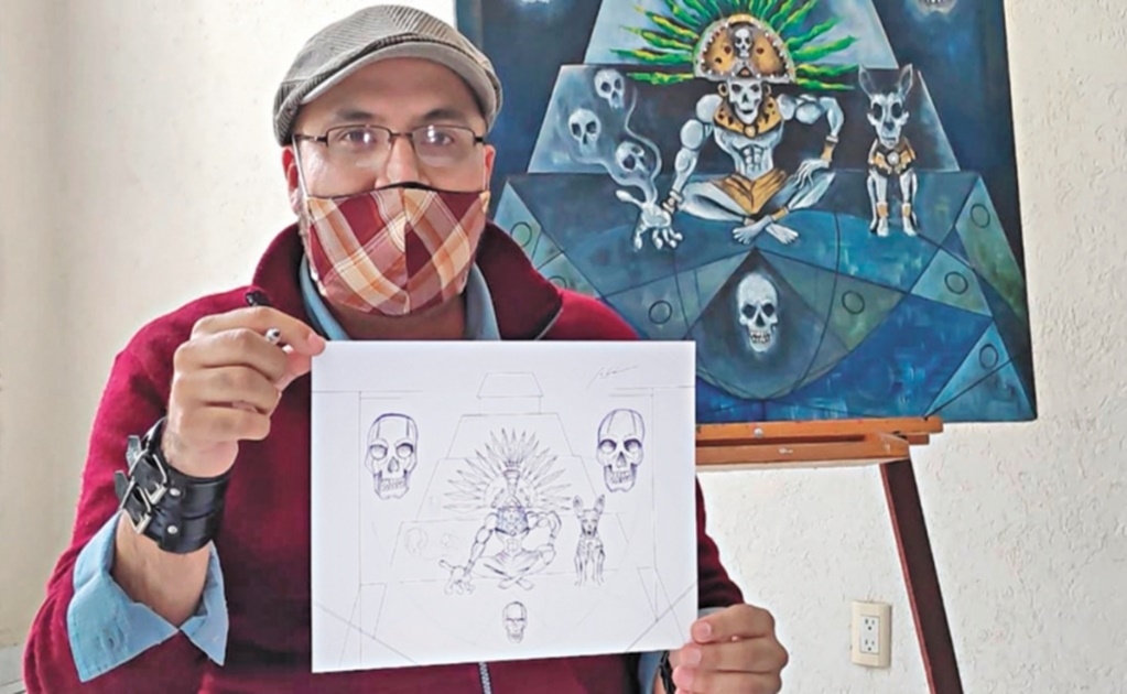Mexican painter pays tribute to those who lost the battle against COVID-19