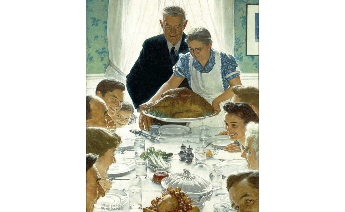 """""""Freedom From Want"""", de Norman Rockwell"""