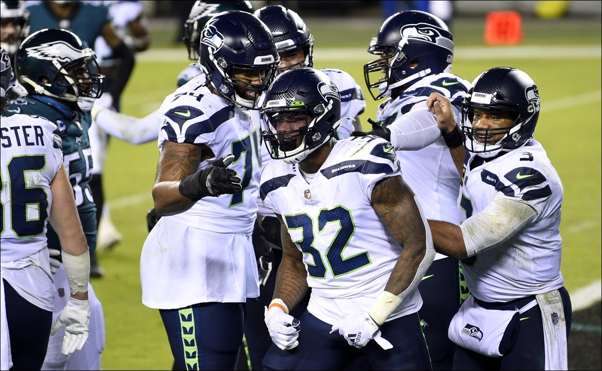 Los Seahawks vencen a Eagles