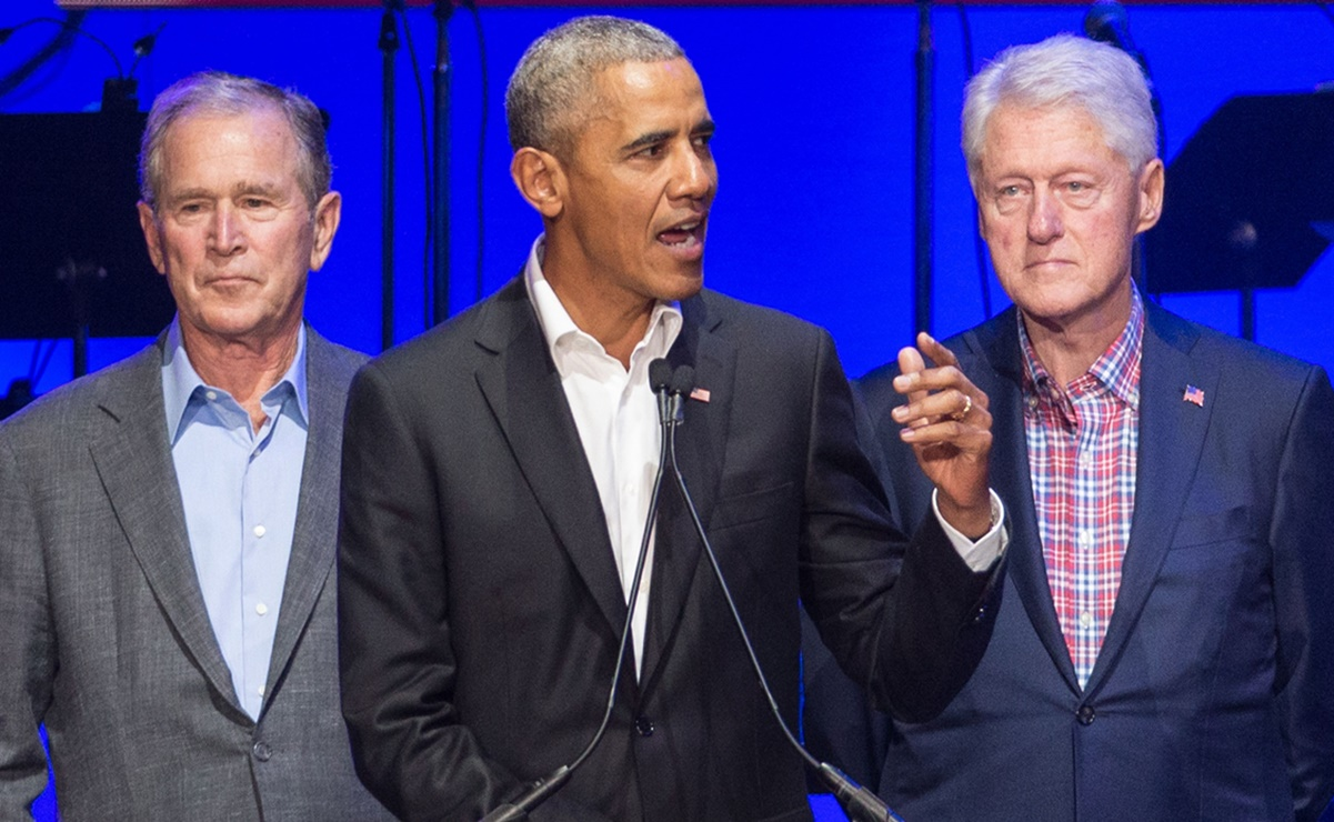 George W. Bush, Barack Obama y Bill Clinton