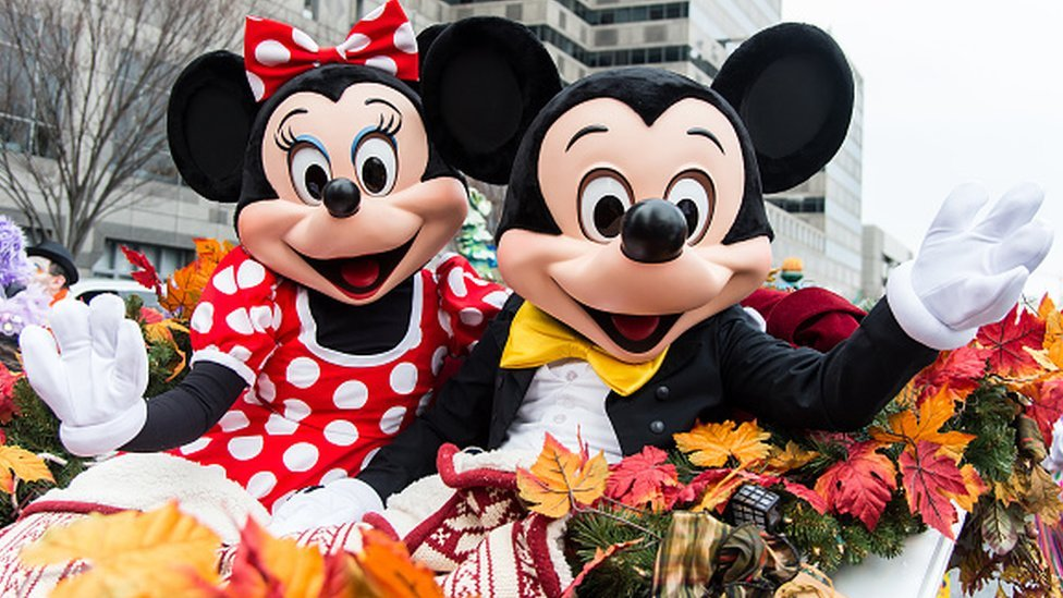 Minnie y Mickey Mouse