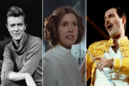 "Carrie Fisher y sus romances ""secretos"" con David Bowie y Freddie Mercury"