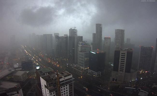 Rain covers seven districts in Mexico City