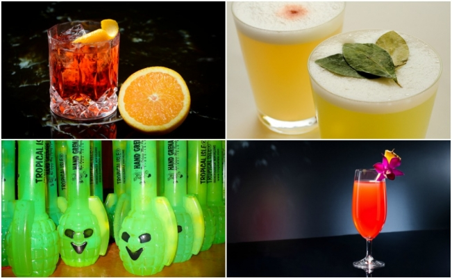 Cocteles: Negroni,Pisco sour, Singapore Sling, Hand Grenade. (Foto: Istock)