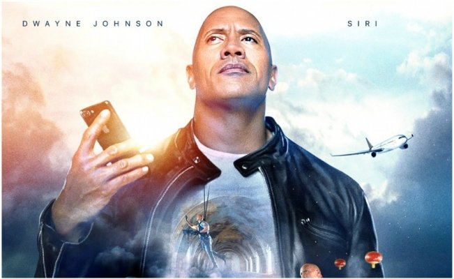 'The Rock' y Siri son coprotagonistas en la nueva 'película' de Apple