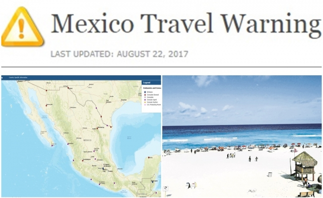 US Department Of State Updates Mexico Travel Warning - Us safe travel map gov