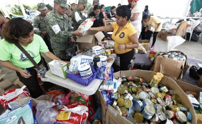 Smuggling donations in Morelos
