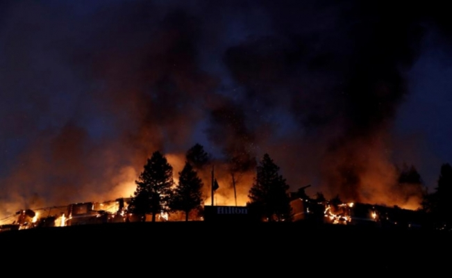 Wildfires ravage California wine country