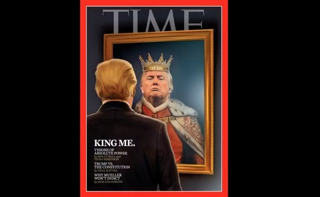 Sale El Rey Trump en portada de Time
