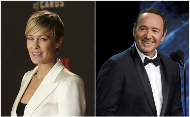 "Robin Wright y Kevin Spacey protagonizaron la serie ""House of Cards"""