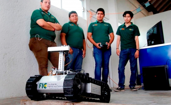 "Mexican students create ""Caterpillar Robot"" for rescue missions"