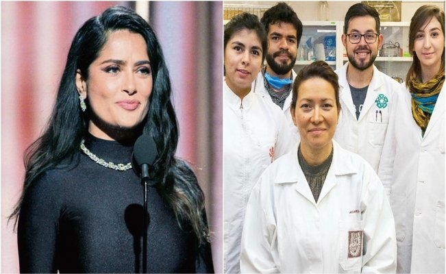 Salma Hayek congratulates scientist working to cure HPV
