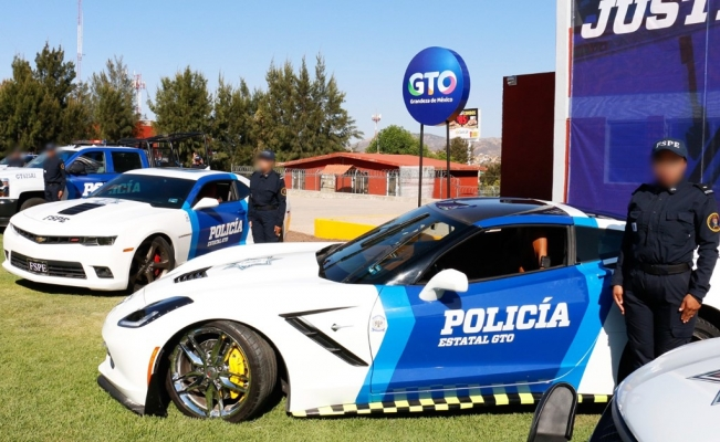 Luxury cars owned by criminals are turned into police cars