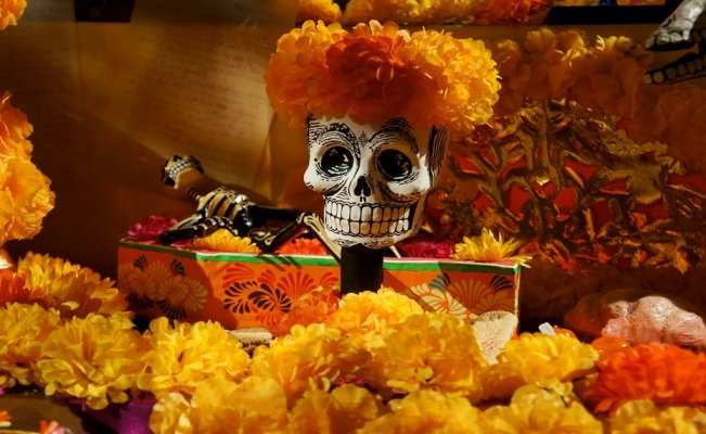 Day of the Dead Altars and Flowers Festival in Mexico City