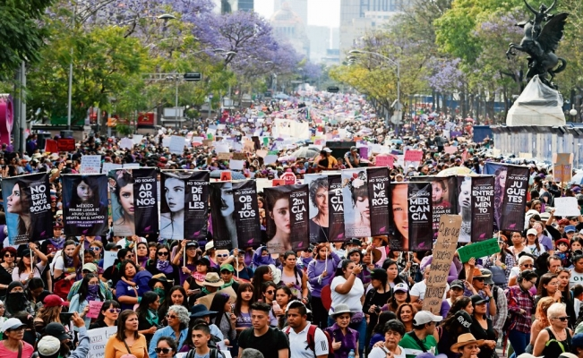 Mexican women empower themselves through strikes and protests