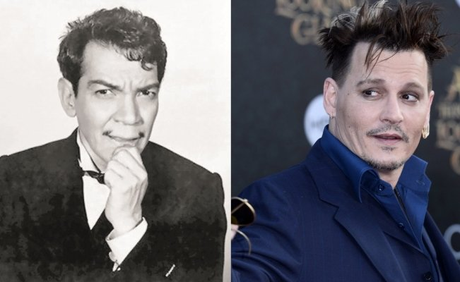 Cantinflas y Johnny Depp