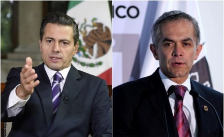 Approval rating of EPN and Mancera falls