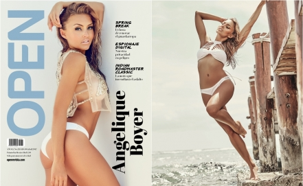 Angelique Boyer posa sexy en revista