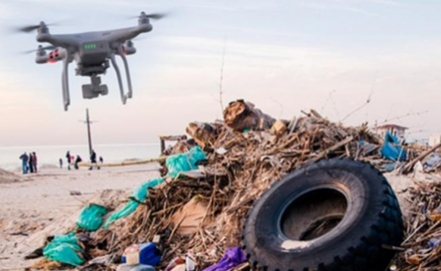 Drones clean beaches in Mexico